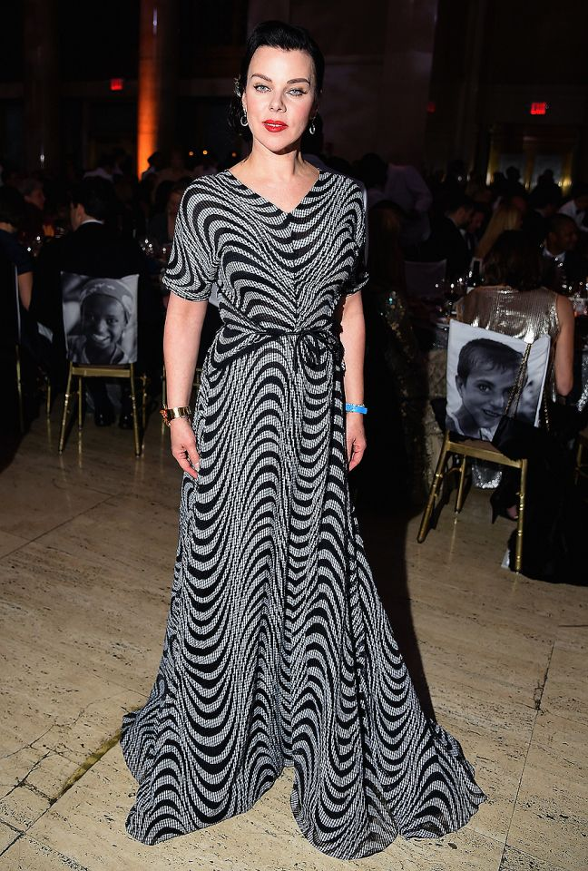 Debi Mazar poses at the UNICEF Snowflake Ball in New York on Tuesday.