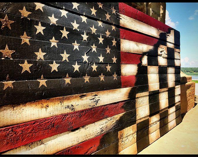 Rustic American Flag Wall Decor Rustic Wooden Color Charred American Flag Classic American Flag Living Room Wall Art In 2020 Rustic American Flag American Flag Wood American Flag Wall Decor