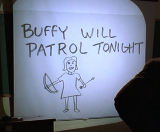 If I ever got a Buffy tattoo, it would probably be one of Giles' drawings from Hush.