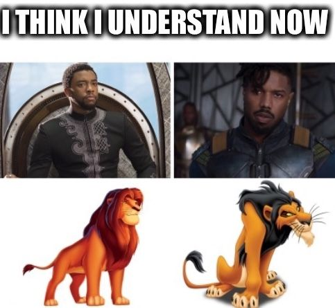 I'm crying  Made by me of course #blackpanther #marvel #lionking #wakanda #2018 #movie #africa #meme