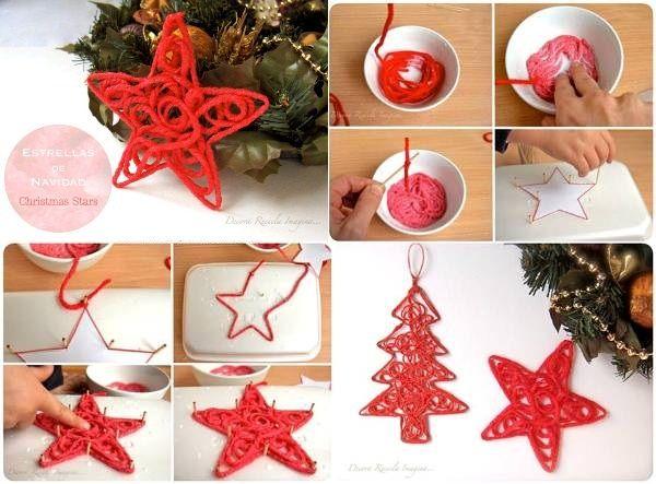DIY Christmas Star Ornament