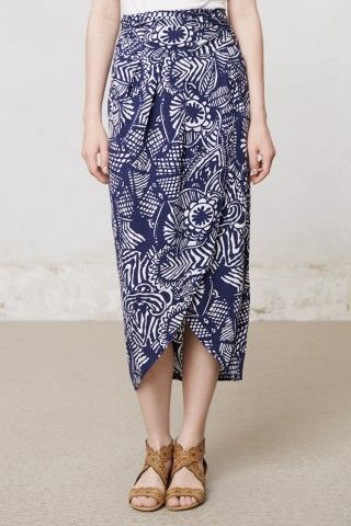 Love the shape and print of this skirt.