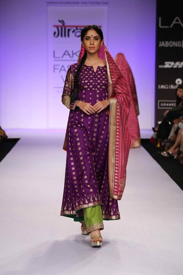 Gaurang Shah LFW 2014 / Salwar Suit /play of colors