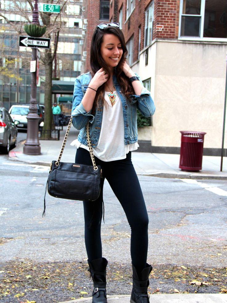 rebecca minkoff bag & denim jacket