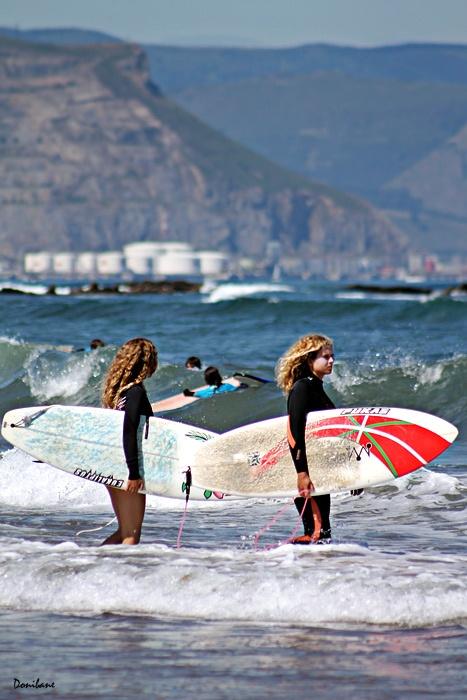 Surfers at Sopelana´s Beach, Basque Country