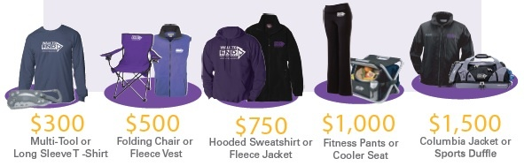 Prizes for the Walk to End Alzheimer's