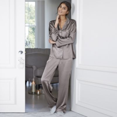 Piped Silk Pyjama Set - Rose from The White Company