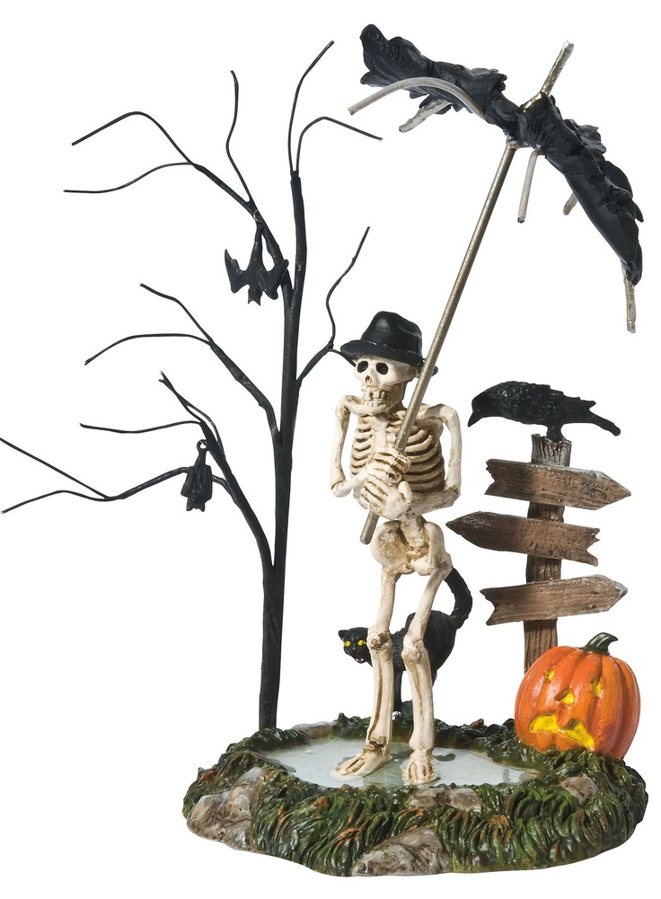 dept 56 halloween village accessories chilled to the bone skeleton bats ebay