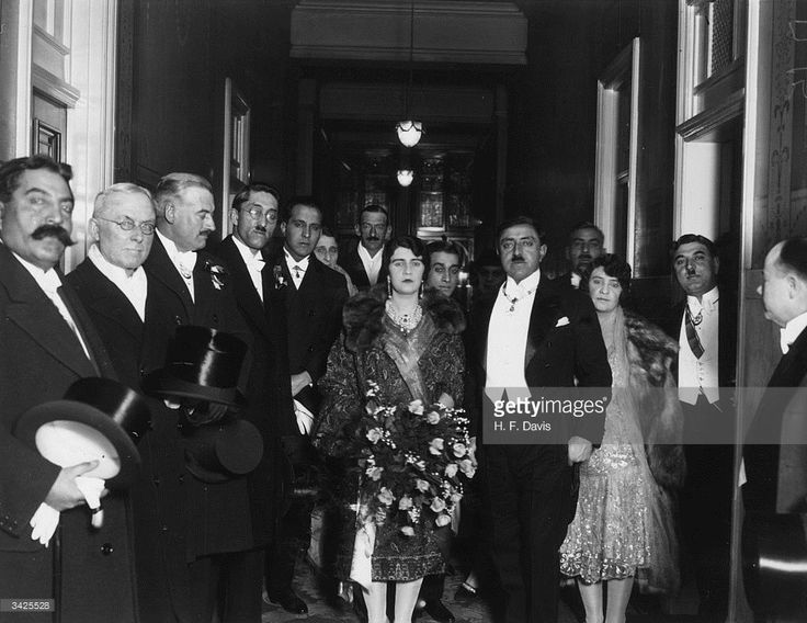 1928: King Amanullah of Afghanistan (1892 - 1960), with his Queen visiting Manchester.