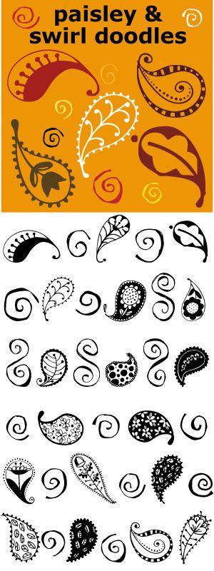 26 paisleys and 26 swirls to mix and match.