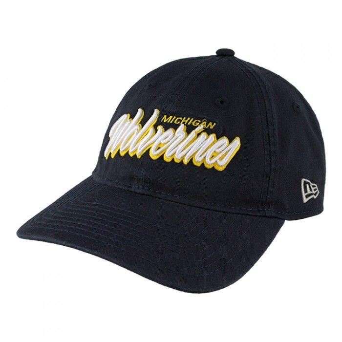 7d6b9f1c4a6 University of Michigan Script Adjustable Hat At Campus Den ...
