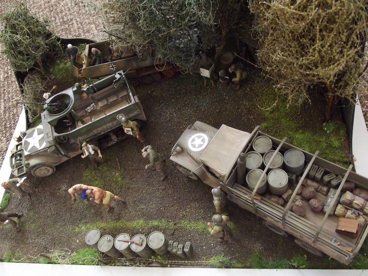 Rumble in the Bocage Diorama by Frazer Booth