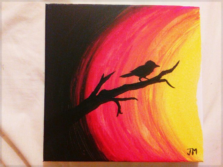 My first canvas painting 03-10-17