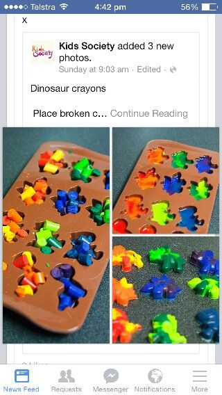 Dino crayons