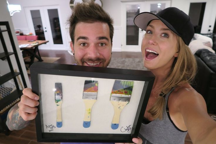 Charles Trippy & Allie Wes 3 Paintbrush Frame #nationalbraintumorsociety #charityauction