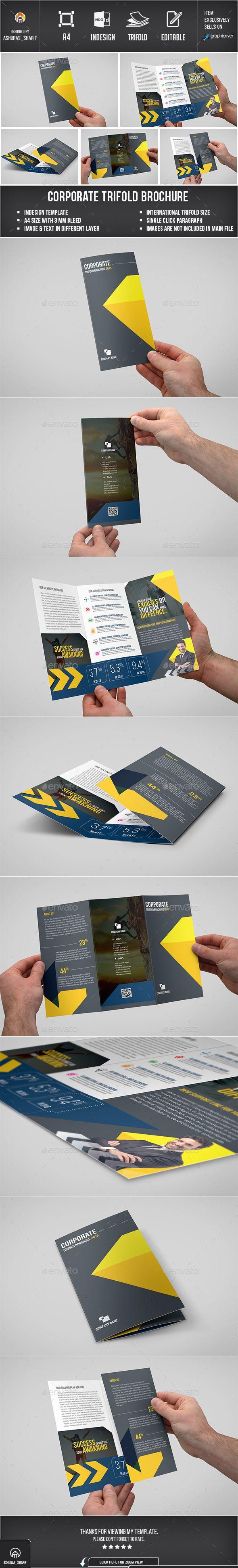 Corporate Trifold Brochure Template #design Download: http://graphicriver.net/item/corporate-trifold-brochure-06/12719870?ref=ksioks