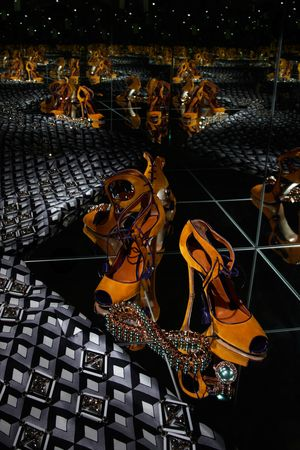 Sergio Rossi Womens Heel - Infinity Mirror Box  Photography by  Tom Hartford   Styling by  Miriam Dembach