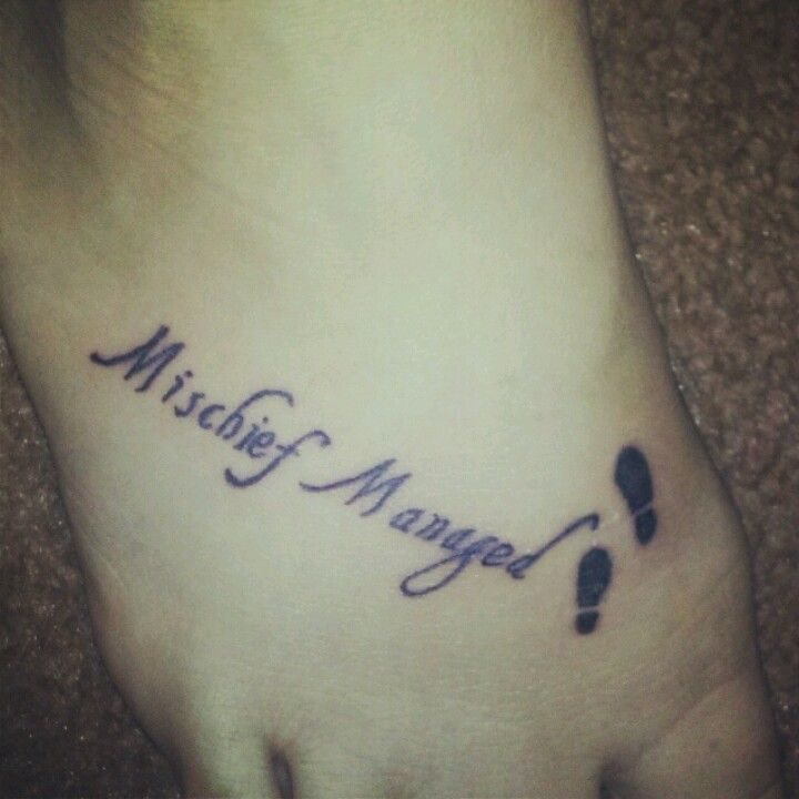 Mischief Managed tattoo!!! Love it! | Beauty | Pinterest