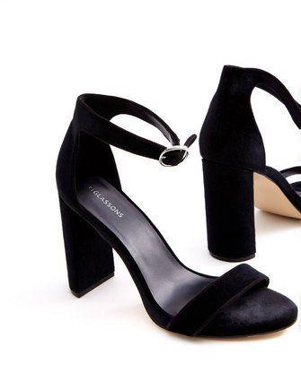 Velvet Strap Heel