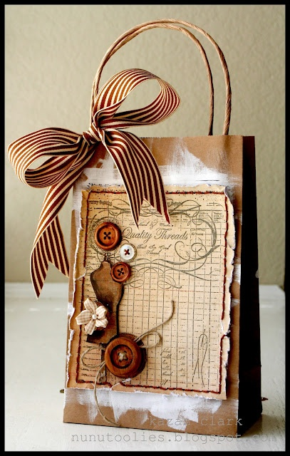 17 best images about decorate bags on pinterest treat for Brown paper craft bags