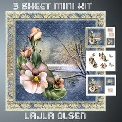 Winter Pansies on Craftsuprint - View Now!