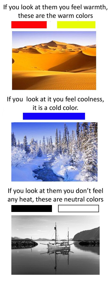 cold colors and warm colors feelings