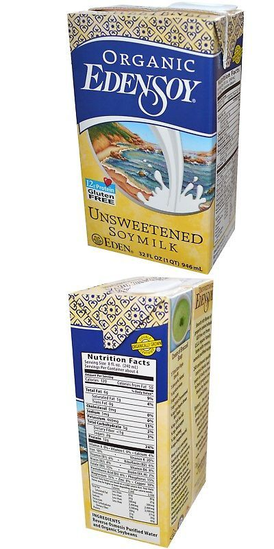 Milk and Non-Dairy Milks 179177: Eden Foods Organic Unsweetened Edensoy ( 12X32 Oz) -> BUY IT NOW ONLY: $65 on eBay!