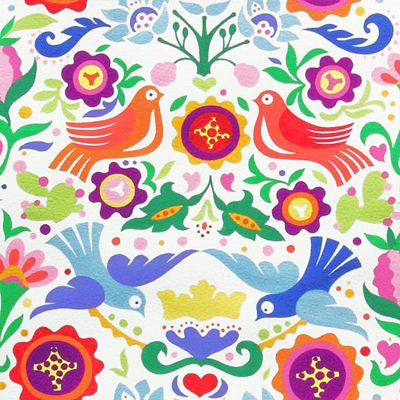 Sweet Mexican pattern. Love the birds.                                                                                                                                                                                 More