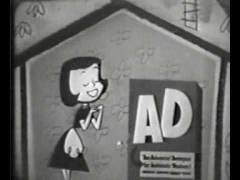 Here's another commercial for AD, but this time featuring wonderful mid-50's whimsical animation.