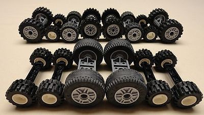 70 Lego Wheels Vehicle Parts Car Truck Tires & Rim Sets LOT