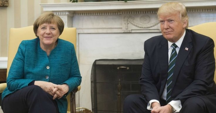 "Twitter Lights Up After 'Too Embarrassing to Watch' Trump-Merkel Press Conference  President Donald Trump slipped up and called the U.S. a ""company,"" ignored German Chancellor Angela Merkel's request for a handshake, and called a German press outlet ""fake news""