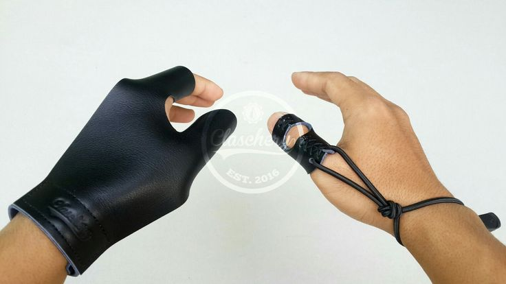 Thumb draw gloves