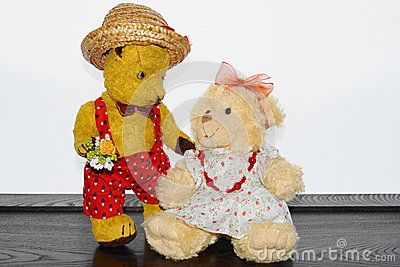 Teddy bear Morulet in love.nThe bear is bought from the supermarket 50 years ago.