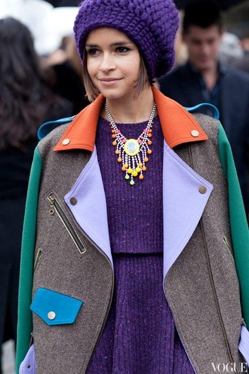 Mira Duma | Purple | Color Blocking Coat