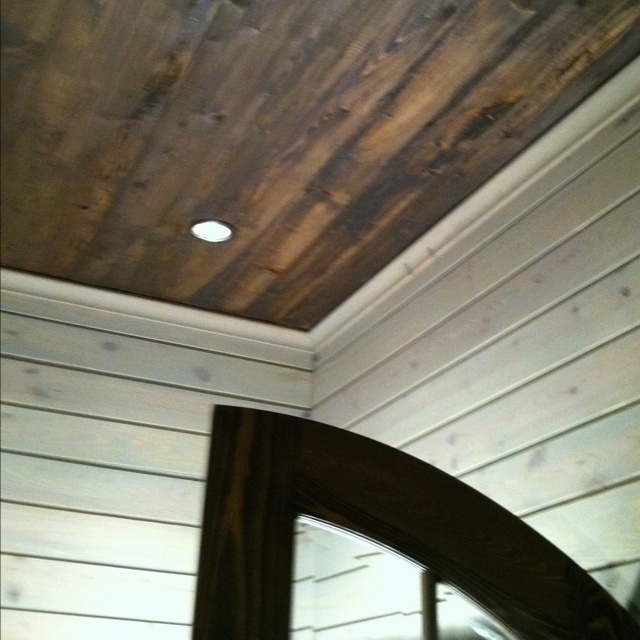 17 best images about faux on pinterest planked walls for Faux wood ceiling planks