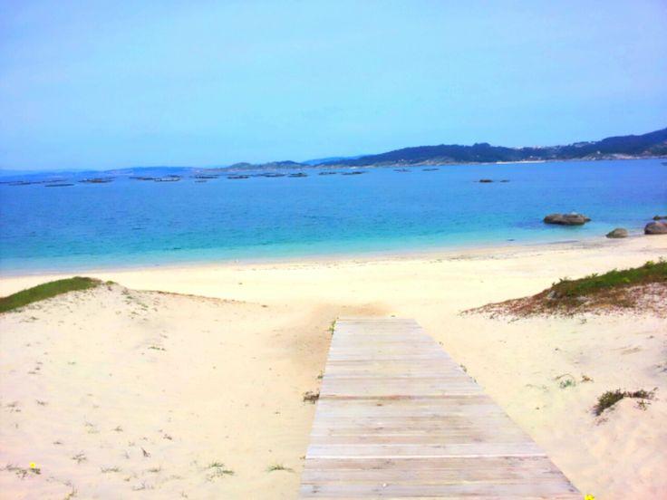 Playa de Area Brava, en Cangas. Fotografía enviada por Tania Acuña.