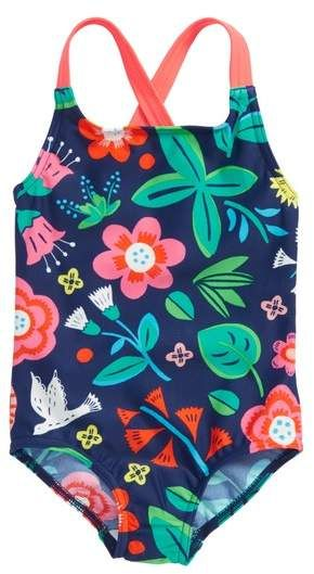 c38800939547e Mini Boden Floral Print One-Piece Swimsuit | Products | Swimming ...