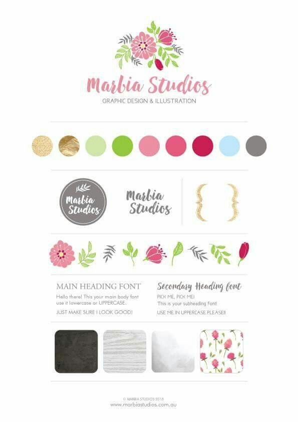 So this is my new branding style guide for my business! I think I'm very happy with the final result. If your looking for someone to help you with your branding visit www.marbiastudios.com.au