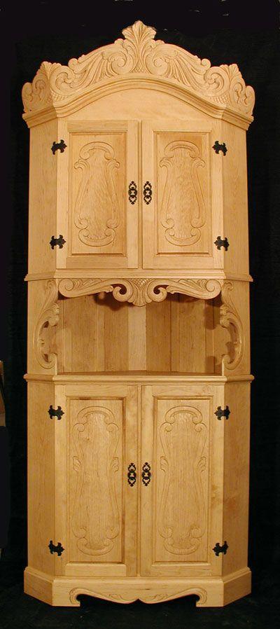 Norsk Wood Works -- corner hutch