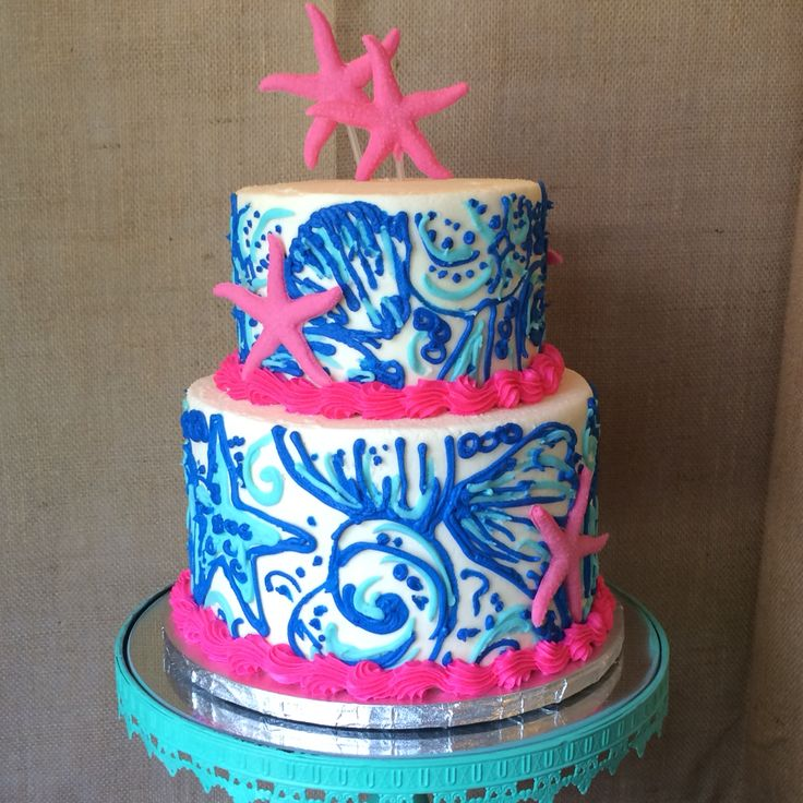Lily Pulitzer inspired cake