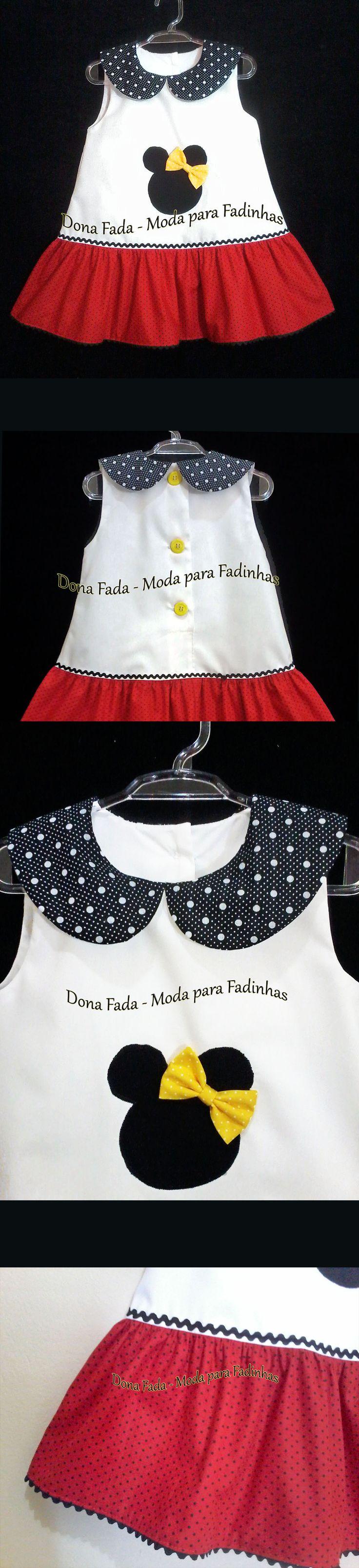 Vestido Minie 3 anos_______________baby - infant - toddler - kids - clothes for girls - - - https://www.facebook.com/dona.fada.moda.para.fadinhas/
