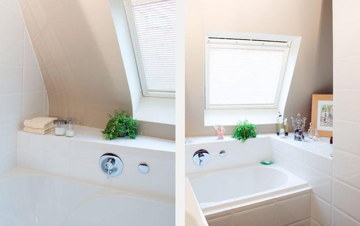 Meer dan 1000 idee n over witte verf kleuren op pinterest benjamin moore verfkleuren en - Idee outs kamer bad onder het dak ...