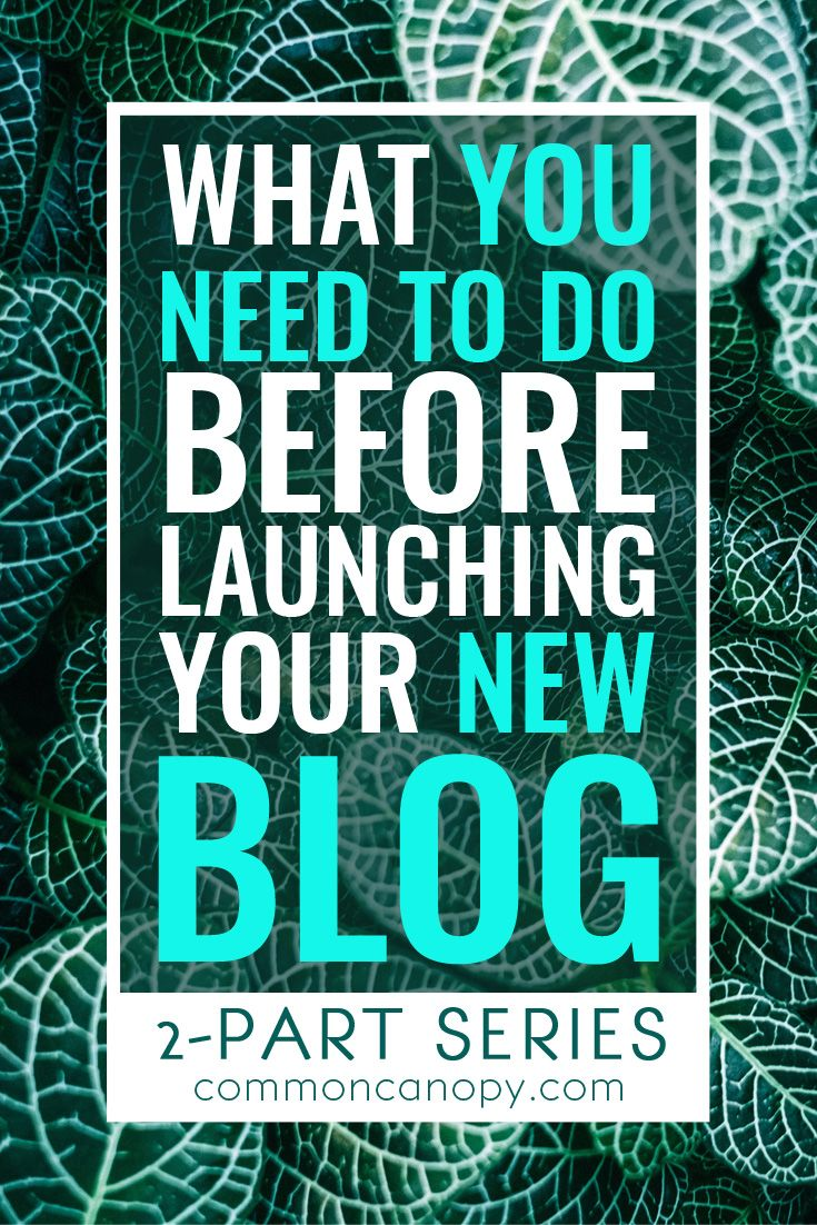 What You Need to Do Before Launching Your New Blog, Part 1 | CommonCanopy.com: This post is KILLER! The series gives a ton of detail on how to set up your blog to make sure that you have as strong a start as possible. Love this!