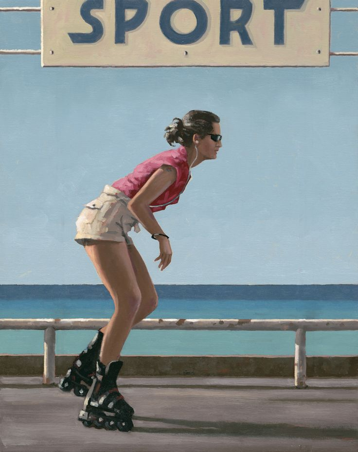 Jack Vettriano Blades Oil on canvas 30 x 24 inches Signed, Painted in 2009 Exhibited 'Days of Wine & Roses' 2010