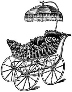 Free Vintage Image ~ Elegant Carriage Clipart (original magazine advertisement included in blog post)