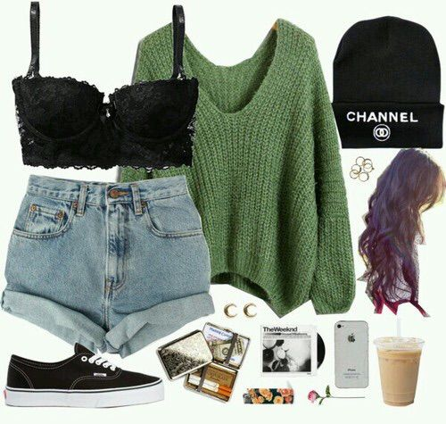 Love the sweater and shorts. And I love wearing beanies in fall and winter :)