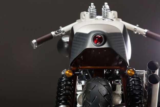 A very unique version of Boneville #custom #motorcycle