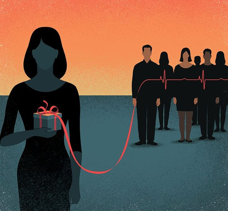 Davide Bonazzi - The gift of life. For a story about organ and tissue donation. Client: Houstonia magazine. #conceptual #editorial #illustration #life #organ #tissue #donation #donor #gift #present #solidarity #people #davidebonazzi