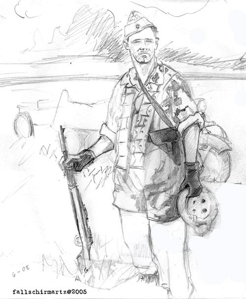 Self Portrait as a German Paratroop in Italy WWII