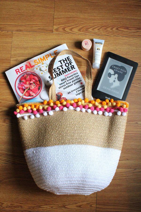 How to Make a Pom Pom Beach Bag | StyleCaster